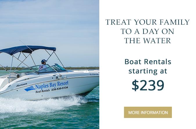 Boat Rentals at Naples Bay Resort   Naples Florida